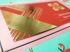 печать визиток с фольгой